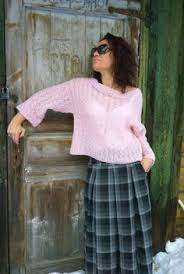 rainbow ombre knit sweater handknitted sweater unusual pullover