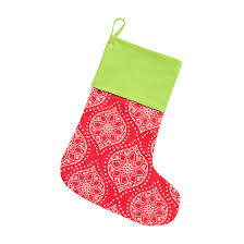 noel poinsettia medallion christmas stocking 1 2 week production