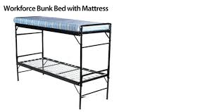 Bunk Bed With Mattress Heavy Duty Metal Bunk Beds Metal Beds Intensive Use Commercial Grade