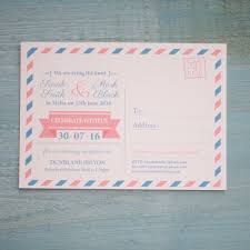 wedding invitations malta airmail travel postcard invitation vintage wedding stationery