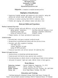 Example Of Resume For Medical Assistant Medical Receptionist Resume Examples Resume Example And Free