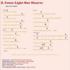 light of the world chords come light our hearts rain for roots