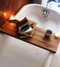 Wood Bathroom Accessories by Reclaimed Wood Bathtub Caddy Home Do Not Use Bathroom Bambeco