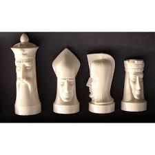 sculpted gothic modern chess set by ganine tftm melrose