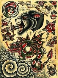 Traditional Design Vintage Tattoo Designs Sailor Jerry Tattoo Flash Digital By Piddix