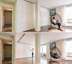 Movable Walls For Apartments Moving Walls Transform A Tiny Apartment Into A 5 Room Home Tiny