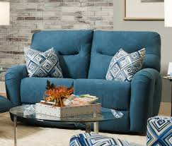 blue reclining sofa and loveseat odyssey double reclining loveseat by southern motion furniture