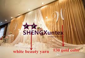 gold backdrop gold color wedding backdrop curtain with white drape wedding