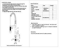 pull down kitchen sprayer faucet installation guide