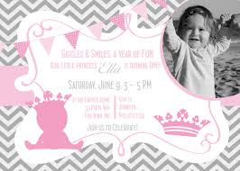 Princess Themed Birthday Invitation Cards Princess 1st Birthday Invitation Printable Invitation Princess