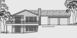 large single house plans side sloping lot house plan walkout basement detached garage