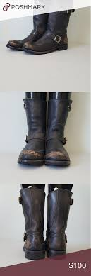 s frye boots size 9 black distressed frye boots rogan w9 m7 5 intentionally distressed