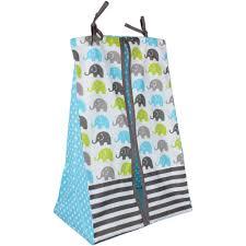 Razorback Crib Bedding by Bacati Elephants 10 Piece Crib Bedding Set Aqua Walmart Com