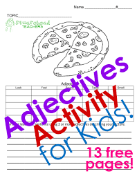 squarehead teachers adjectives activity collection free