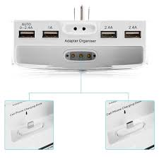 Wall Mounted Cell Phone Charging Station by Bestek 6 Outlet Upgraded High Quality Power Strip With 5 2a 4 Usb