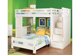 kids room twin over full bunk bed drawers for extra storage dark