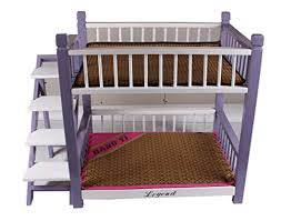 Bunk Bed For Dogs Wooden Indoor Dog House Double Panel Deck Pet Bunk Bed With Pet