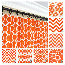 Orange Panel Curtains Orange Window Curtains Red Orange Drapes Geometric