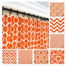 Red Orange Curtains Orange Window Curtains Red Orange Drapes Geometric