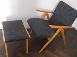 sessel 50er design design orig 50er jahre sessel plus hocker neu gepolstert