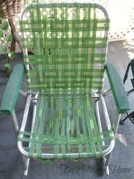 Repair Webbing On Patio Chair Repairing A Vintage Webbed Lawn Chair Faith Stitched Home