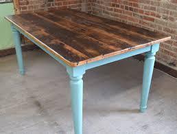reclaimed chestnut kitchen farm table handmade in nc custom