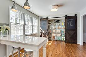 Enterprise Cabinets Barn Door Style Kitchen Cabinets View In Gallery Classy Use Of