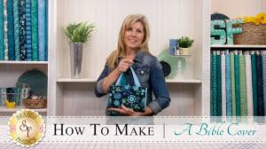 how to make a quilted bible cover with jennifer bosworth of