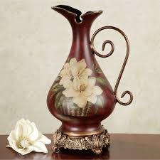 White Ceramic Pitcher Vase Table Vases Floor Vases Decorative Jars Touch Of Class