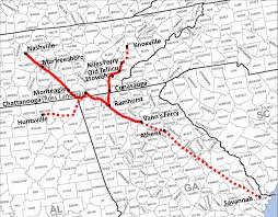 Map Of Tennessee And Georgia by Historic Roads Paths Trails West Virginia Tennessee Kentucky