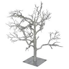 glittered silver branch twig tree 70cm decorations for wedding