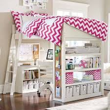 girls loft bed with a desk and vanity fancy plush design pottery barn teen loft bed chelsea vanity from