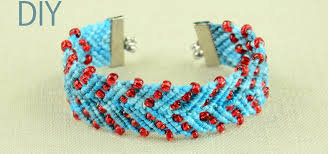 bracelet with beads patterns images Chevron design bracelet with beads tutorial jewelry wonderhowto jpg
