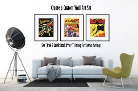 superman poster superhero wall art superman art nerd gift 1