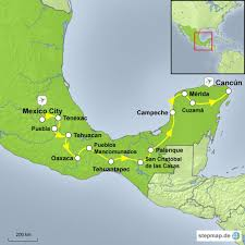 Teotihuacan Map America Andina Mietwagenreise Mexico City Bis Cancún