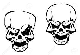 skull tattoo images free danger skull as a warning or evil concept royalty free cliparts