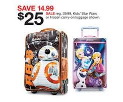 target sales on black friday kids u0027 star wars or frozen carry on luggage deal at target black