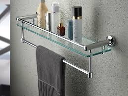 kes bathroom bath towel rack with double bar 24inch wall mount