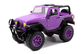 purple jeep no doors amazon com jada toys girlmazing big foot jeep r c vehicle 1 16