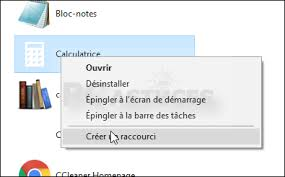 raccourci bureau windows 7 créer un raccourci clavier pour une application windows 10