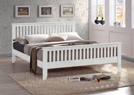 Wooden Bed Frame Double by Bedroom Awesome Almeria White Wooden Bed Frame Sleepland Beds