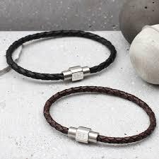 leather bracelet clasp images Mens personalised clasp slim leather bracelet hurleyburley jpg