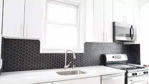 white kitchen cabinets with hexagon backsplash 30 black and white kitchen design ideas designing idea