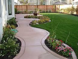 interesting back yard design with eeecbeafcceda landscape slope