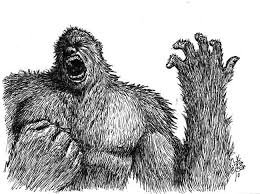 bigfoot sasquatch artwork by jesse ravenwolf