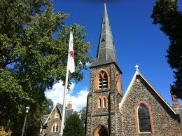 Church Flags File Steeple And Flag Of St John U0027s Protestant Episcopal Church
