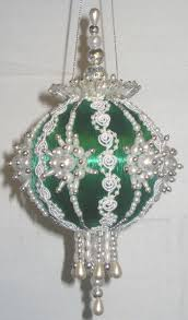 regal peacock glittered and beaded satin ball christmas ornament 3