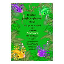 lizard birthday invitations u0026 announcements zazzle