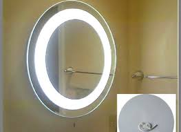 electric heated anti fog bathroom mirror defogger oval ebay