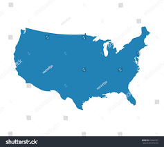 State Map Blank by Blank Blue Unites State Map Vector Stock Vector 410467321